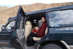 Kris in car