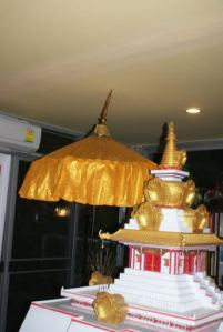 stupa and parasol