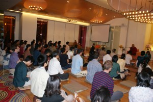 At Bodhigaya hall