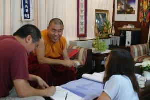 Giving advice on Stupa