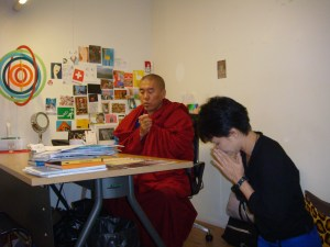 Rinpoche at Orn's office