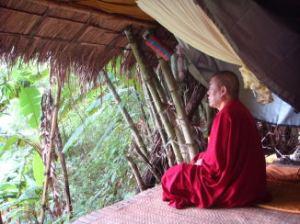 Rinpoche meditating
