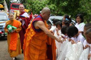 Rinpoche receives khatak