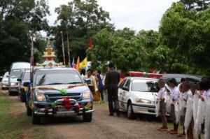 Stupa on car