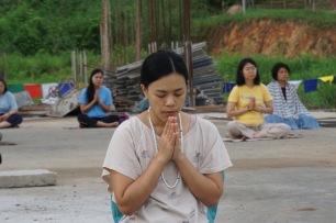 meditate at stupa 1