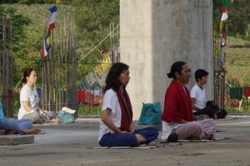 meditate at stupa 2