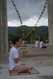 meditation at stupa3